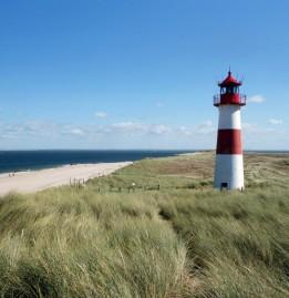 Leuchtturm auf der Nordseeinsel Sylt