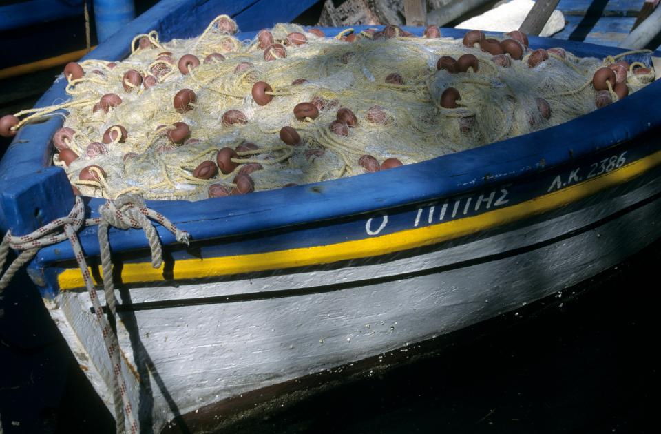 Fischerboot auf Korfu