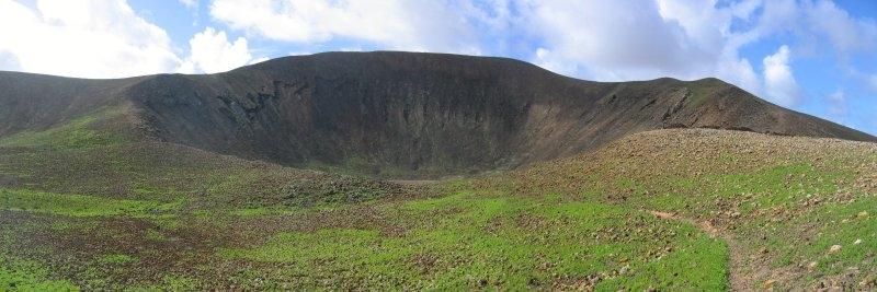 Vulkankrater auf der Kanareninsel Fuerteventura