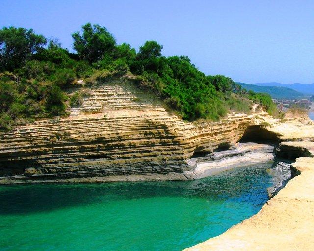 Bucht von Sidari Griechische Insel Korfu