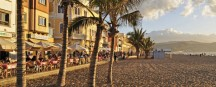 Stadtstrand Canteras Beach in Las Palmas auf Gran Canaria