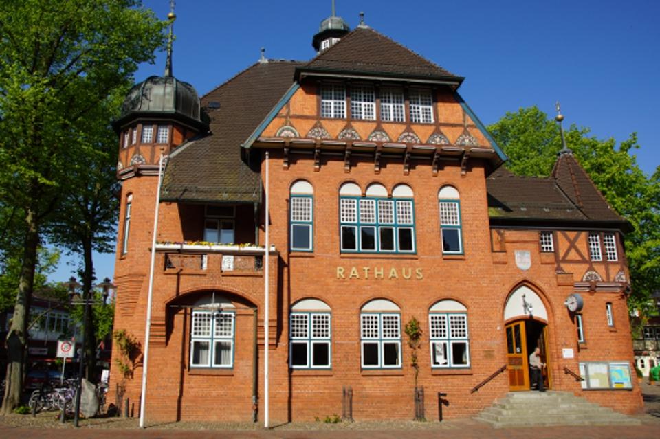 Rathaus in der Stadt Burg auf Fehmarn