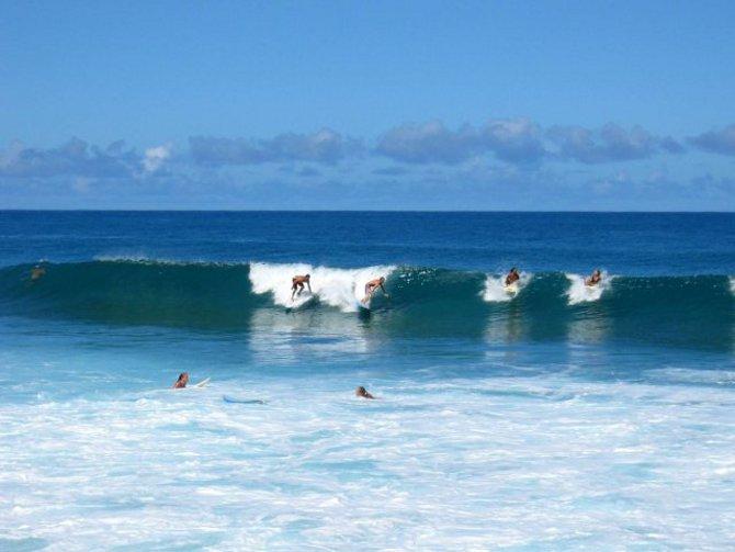 Surfer auf Hawaii